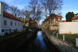 The Kampa Island  and the Čertovka canal