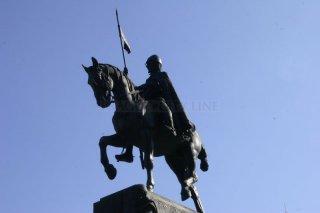 Wenceslas Square  and statue of St. Wenceslas