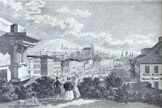 Vincenc Morstadt -  Konsky trh (horse market)1830, former name of the Wenceslas Square