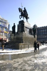 Wenceslas Square - The monument of St. Wenceslas
