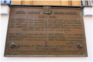 memorial plaque for the victims of the occupation from the period 1939 – 1945