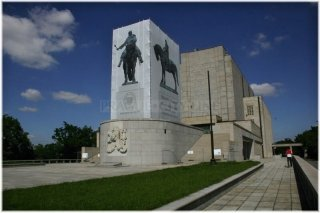Prague 3 - National Memorial at Vítkov and Equestrian statue of Jan Žižka of Trocnov