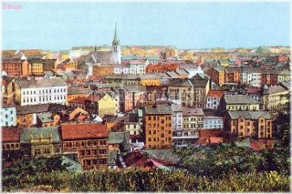 Old Picture - Prague 3 - Zizkov view from Vitkov Hill