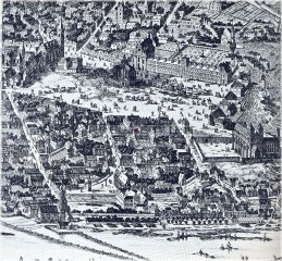 New Town and Cattle Market Place (nowadays Charles Square) about 1685