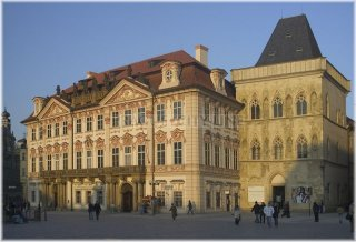 Prague 1 - Old Town Square - The House U Kamenného zvonu (At the Stone Bell) and Golz-Kinsky Palace