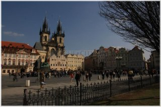 Prague 1 - Old Town Square - Church of Our Lady in front of Týn
