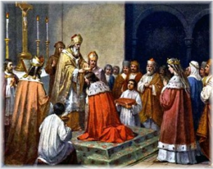 Coronation of czech king Vratislav II.