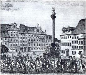 Coronation procession - Old Town Square (czech:Staroměstské náměstí)