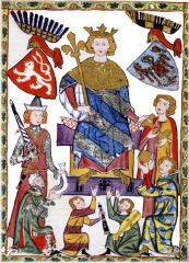 Czech king - Venceslas II. (czech: Václav II.)