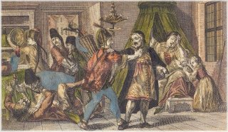 Looting of Prague Jewish Town in December 1744