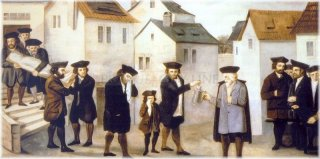Jews is taking out the dead body from the house (about 1780)