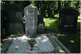 New Jewish Cementery - the grave of the Prague´s Jewish writer Franz Kafka