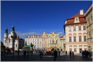 Prague 1,  Old Town Square - Church of st. Nicholas
