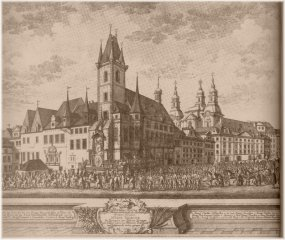 Old Town Square and Coronation procession (1743)