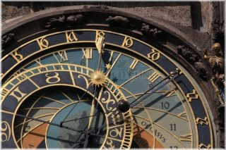 Prague, Old Town Square, Old Town Astronomical Clock – the astronomical dial