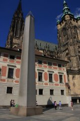 Prague castle - III. Courtyard - Granite monolith