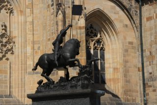 Prague castle - III. Courtyard - Gothic statue