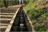 Petrin Hill - Kinský Garden (Kinského zahrada) - staircase with flowing water
