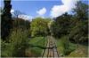 Petřín – Nebozízek Gardenand the funicular rails