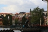 Monument to Bedrich Smetana and the view of Prague Castle