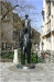 The statue of the Jewish writer Franz Kafka
