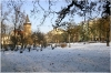 Charles Square in winter