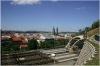 Prague 3 - Vitkov Hill - view of the Rail Corridor