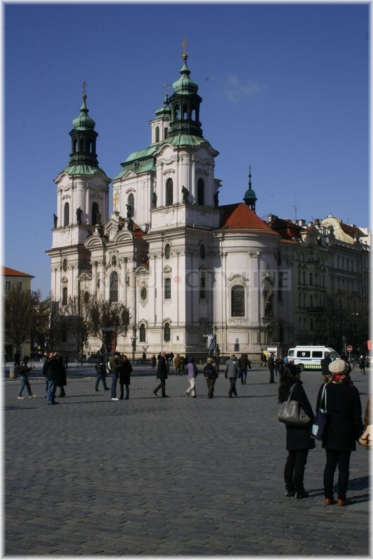 Prague City Line 187 The Church Of St Nicholas Was Originally A Gothic Building