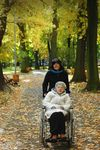 Daughter with handicapped mother