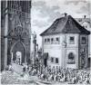 Coronation procession - Křížovnické square